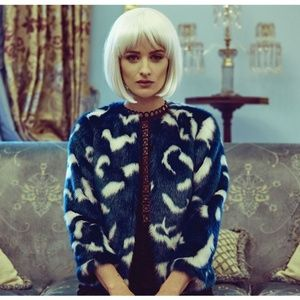 🍒NWT🍒 TED BAKER MARBLE FAUX FUR JACKET